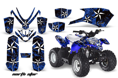 North Star - Blue Background White Design
