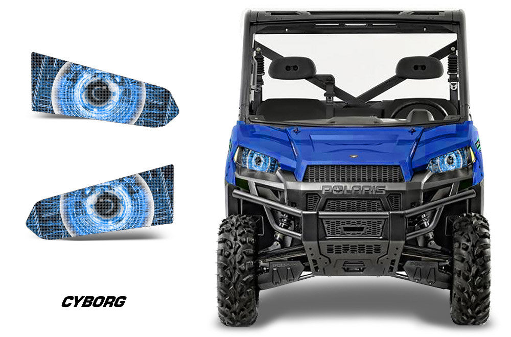 Blacked Out Rzr >> Polaris Ranger 570-900 2013-2015 Head Light Eye Graphics - Invision Artworks