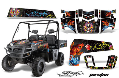 Ed Hardy Pirates - BLACK background
