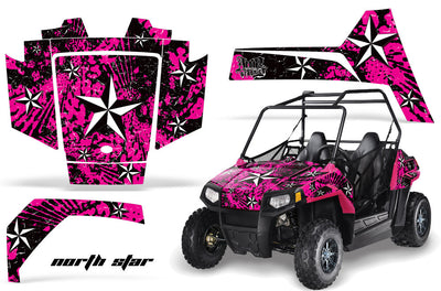 North Star - PINK background WHITE design