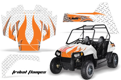 Tribal Flame - WHITE background ORANGE design