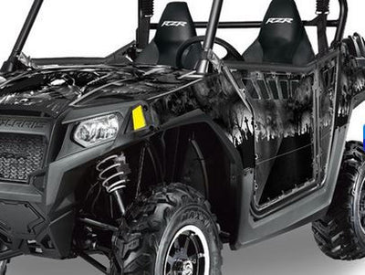 Reaper in Black Background on a RZR800 2011