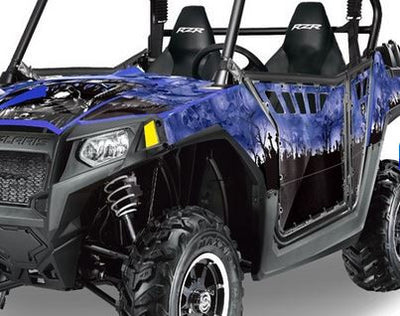 Reaper in Blue Background on a RZR800 2011