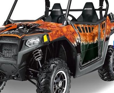 Reaper in Orange Background on a RZR800 2011