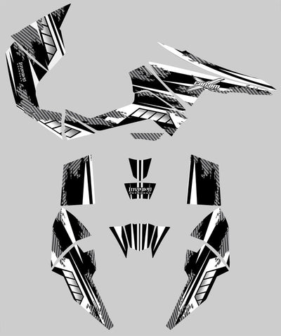 Racer X - Black Background, White Design