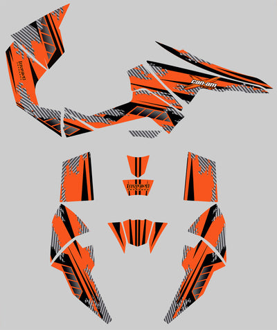 Racer X - Orange Background, Black Design