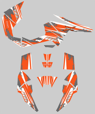 Racer X - Orange Background, White Design