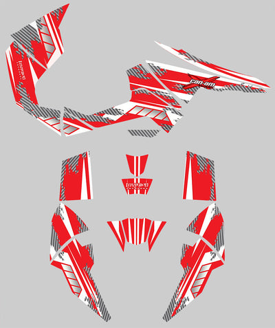 Racer-X - Red Background, White Design