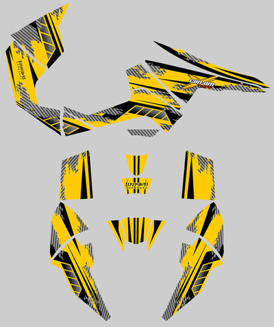 Racer X - Yellow Background Black Design