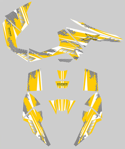 Racer-X - Yellow Background, White Design