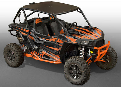 Racer-X - Black Background, Orange Design