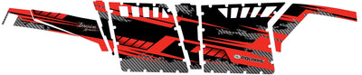 Racer X - Black Background Red Design - Pro Armor Side View
