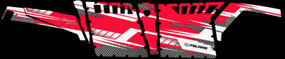 Racer X - Red Background White Design - Side view Pro Armor Doors