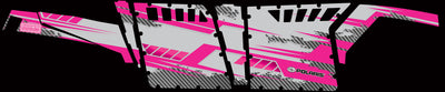 Racer X Silver Background Pink Design - Pro Armor side view