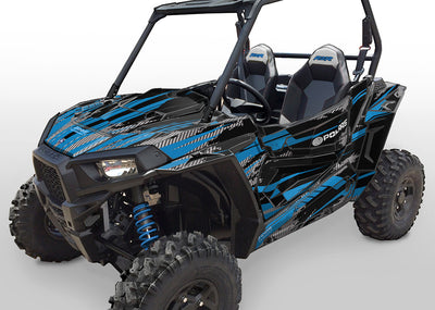 Racer-X - Black Background, VooDoo Blue Design