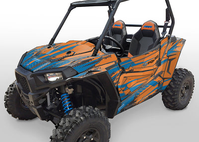 Racer-X - Orange Background, VooDoo Blue Design