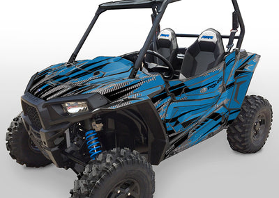 Racer-X - VooDoo Blue Background, Black Design