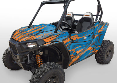 Racer-X - VooDoo Blue Background, Orange Design