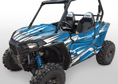 Racer-X - VooDoo Blue Background, White Design