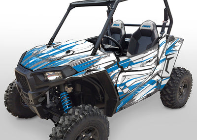 Racer-X - White Background, VooDoo Blue Design