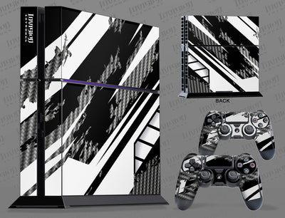 Sony PlayStation 4 Graphics - Console Skin with 2 Controller Skins - Racer-X