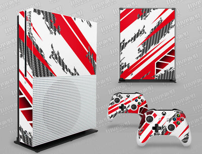 Xbox One S Graphics - Console Skin with 2 Controller Skins - Racer-X