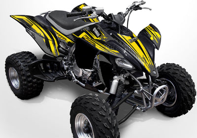 Racer X - Black Background Yellow Design