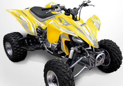 Racer X - Yellow Background Silver Design