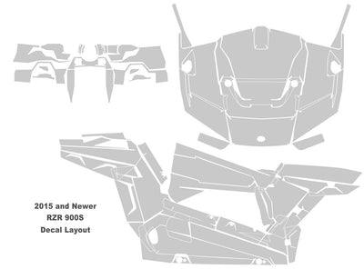 2015 RZR 900S Decal Layout