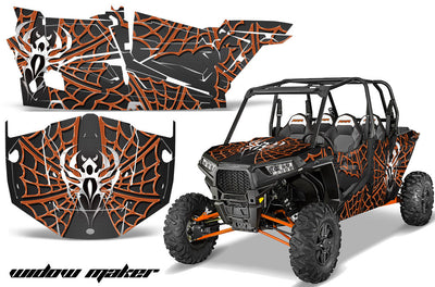 Widow Maker - Black Background, Orange Design