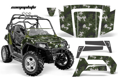 Camo Plate in Army Green Design