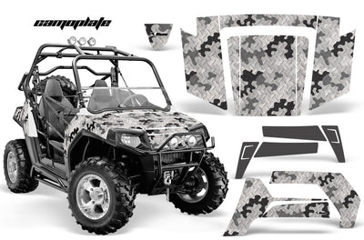 Camo Plate in White Design