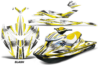 Slash - White Background Yellow Design
