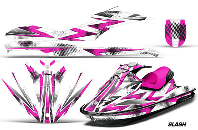 Slash - White Background Pink Design