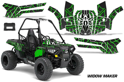 Widow Maker - Black Background Green Design