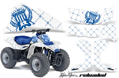 Reloaded - White Background Blue Design