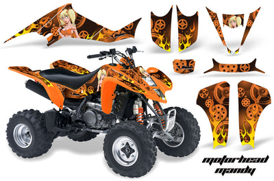 Motorhead Mandy - Orange BackgroundOrange Design
