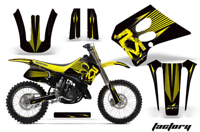 Factory Race - Black Background Yellow Design