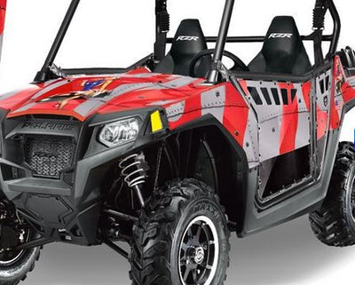 Bomber in Red Design on a RZR800 2011
