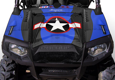 War Machine Black Background Blue Design