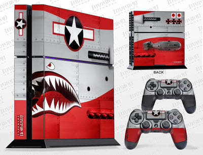 Sony PlayStation 4 Graphics - Console Skin with 2 Controller Skins - War Machine