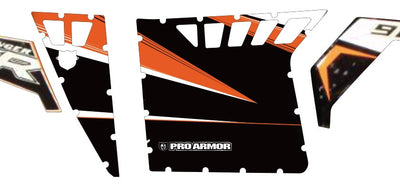 Orange/Black - Pro Armor RZR 2 Door Kit