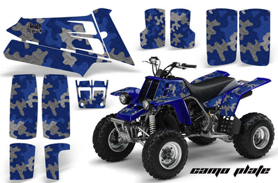 Camo Plate in Blue Design