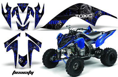 Toxicity - Black Background Blue Design