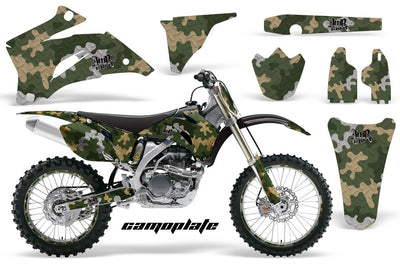 Camo Plate - Green/Grey/Tan Design