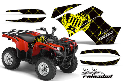Grizzly 700 Black Background Yellow Design