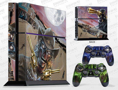 Sony PlayStation 4 Graphics - Console Skin with 2 Controller Skins - Zombie Outlaw