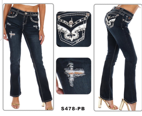 Boot Cut Sexy Couture Jeans $49 - Dark Blue