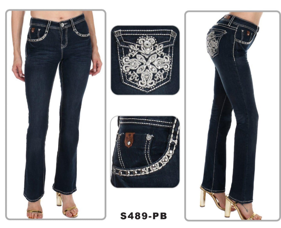 NEW!  Boot Cut Sexy Couture Jeans