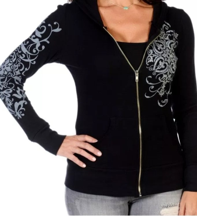 Hoodie with Silver Embellishments